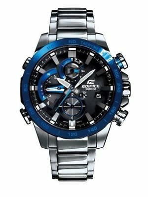 Casio Edifice Square Black Dial Analog Digital Mens Watch Japan With