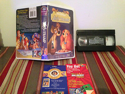 Lady and the Tramp (VHS, 1998, Clam Shell) Vhs tape-clamshell case & inserts