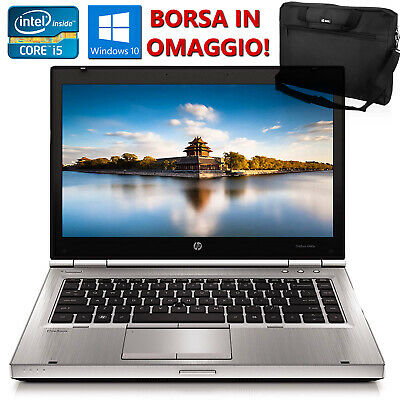 "PC PORTATILE NOTEBOOK 14"" RICONDIZIONATO HP 8460P CORE i5 8GB SSD 240GB WIN 10"