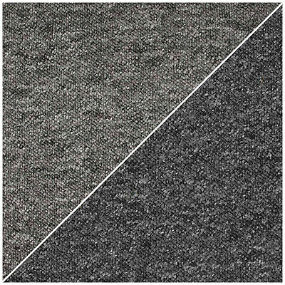 CHEAP HEAVY DUTY Black - Grey Hardwearing Berber Loop Pile Carpet 4m £3.95Sqm