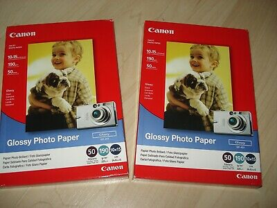 LOT 100 FEUILLES Papier Photo Glacé Glossy CANON 10x15 190 GR