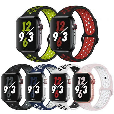 Sport Silicone Strap iWatch Band for Apple Watch Series 5 4 3 2 1 38mm 42 40 44