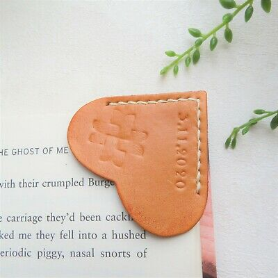 Personalised Bookmark Books accessories Custom made real leather gift idea