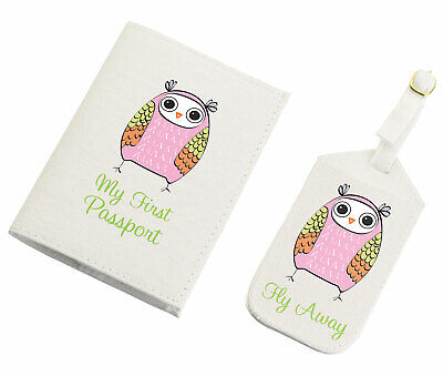 Luggage Suitcase Baggage Tag Owl Photo S2476