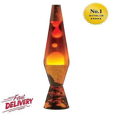 """Lava The Original Colormax Lamp with Volcano Decal Base, 4.0"""" x 4.0"""" x 14.5"""""""