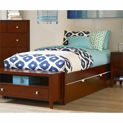 NE KIDS PULSE Full Platform Bed with Trundle in Cherry