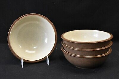 "Denby Energy Cinnamon Set of Four 7"" Soup Cereal Bowls"