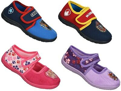 Boys Girls Kid Official Paw Patrol Character Slip On Canvas Pumps Trainers Shoes