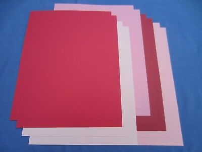 SALE!! 8.5 x 11 CARDSTOCK PAPER - RED/PINK - LOT OF 10 - NEW!!