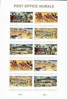 1 Sheet #5372-76 Forever Post Office Murals. Bin $7.49. Free Delivery.