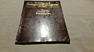 Le manuel complet psioniques FRENCH  Advanced Dungeons & dragons 2nd edition