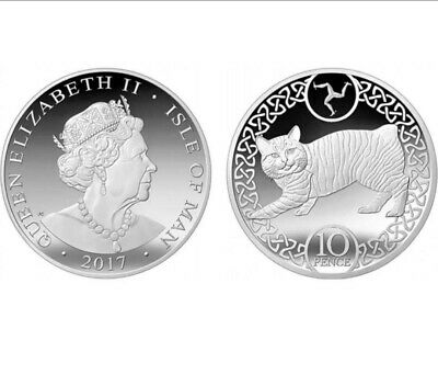 UNCIRCULATED clearance sale 2017 Isle of Man IOM MANX CAT 10p