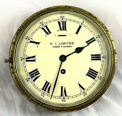 Antique Large Working Brass Ships Clock *** M.i.limited London & Glasgow ***