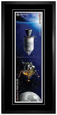 2019 CANADA POST APOLLO 11 FRAMED STAMP ENLARGEMENT -  DIMENSIONS: 13'' x 27''
