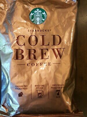 Starbucks Cold Brew Coffee Pitcher Packs. 4 Count / 8 packets *FRESH*18Nov19 exp
