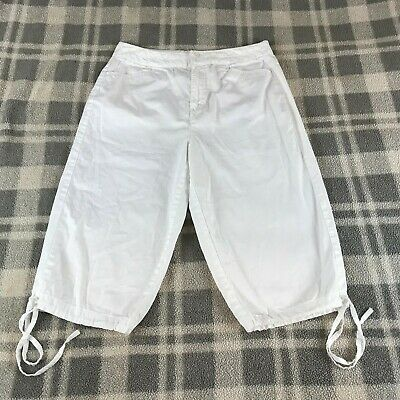Women's WHITE STAG White Stretch Draw String Legs Capris Cropped Pants  SIZE 6