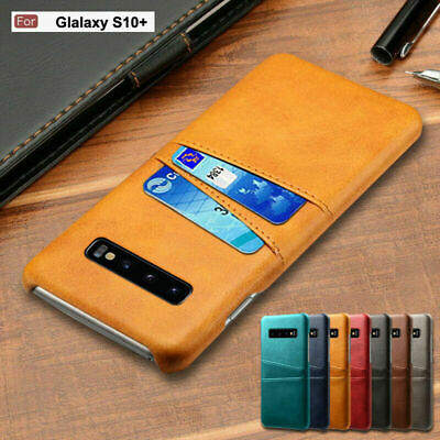 For Samsung Galaxy S10E S9 S8 Plus Note 9 8 Genuine Leather Cover Card Slot Case
