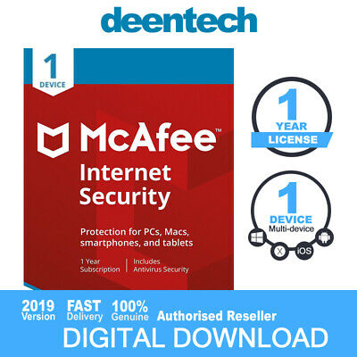 McAfee Internet Security (1 PC) 2020 Multi-Device Antivirus Genuine License