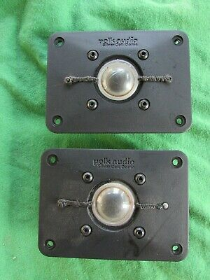 Pair of Polk Audio SL2000 Silver Coil Dome Tweeters / VG Condition,FREE SHIPPING