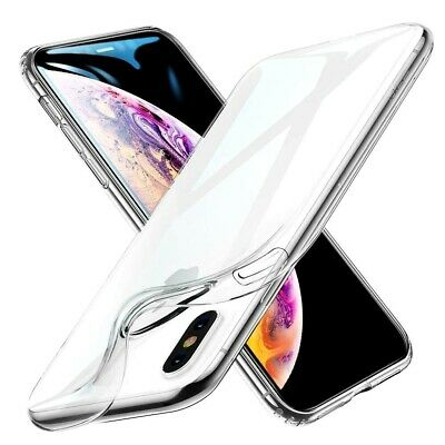Cover Custodia TRASPARENTE per IPHONE X XS XR XS MAX Morbida Sottile Slim TPU