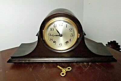 GORGEOUS Vintage Seth Thomas Smaller Scale Tambor 8 day Mantle Clock Collector's
