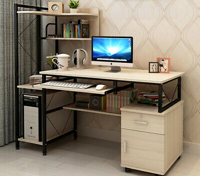 Multi-Function Office Computer Desk Table Deluxe Large Combination Workstation