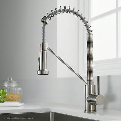Single Handle Commercial Chrome Kitchen Faucet With Dual Function Pull Down Tap