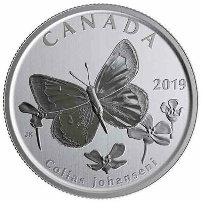 2019 Canada 50 cent sulphur Butterfly from Wildlife treasures set -coin in 2 x 2