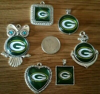 NFL Football Heart Team Pendant Charms Necklace lot pick your team Jewelry L@@K