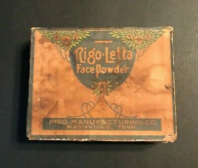 Antique Rigo-Letta Face Powder Nashville Tenn.box Early American Flower Unused