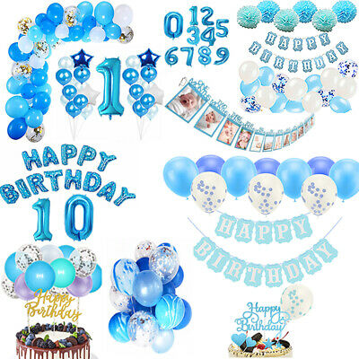 1st Birthday Party Themes.Happy 1st Birthday Balloons Bunting Banner Baby Boy First