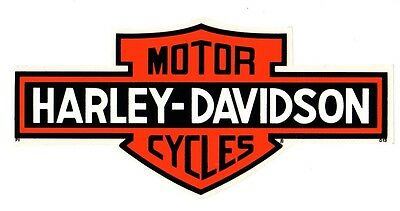 "Genuine Harley Davidson 10"" Outside Window Long Bar Shield Decal Sticker!"