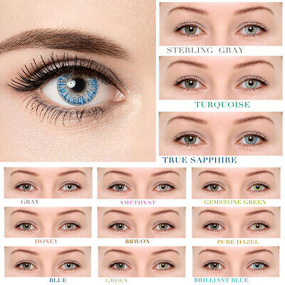 Yearly Use Colored Cosmetic Contact Lenses 0 Degree Makeup Eyewear 1 Pair