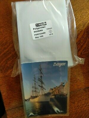 "15 Polyprotec 6.5"" x 4.5"" Sleeves for Modern Postcards Photographs Storage"