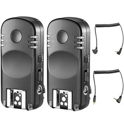 Neewer 2.4G Wireless Remote Flash Trigger Transceiver Pair with Remote Shutter