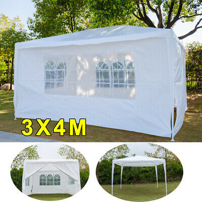4x3m Gazebo Marquee Party Tent Waterproof Garden Patio Outdoor Canopy+Sidewalls