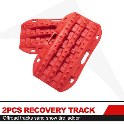 2 Pcs Recovery Traction Tracks Boards Red Track Tire Ladder for Sand Mud Snow