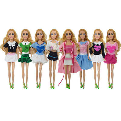 Girls Favor Barbie Doll Clothes Pants Short Skirts Dress Outfit Accessories Gift