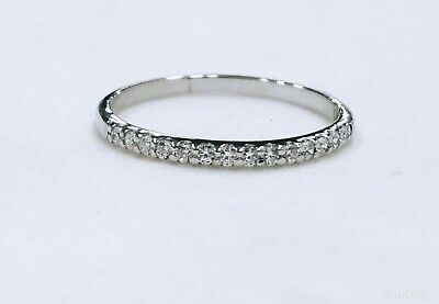 real solid 14k white gold 1ct diamonds solitaire with accents wedding band ring