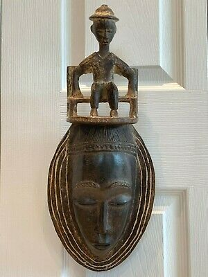Exceptional Antique Tribal African Carved Wood Mask