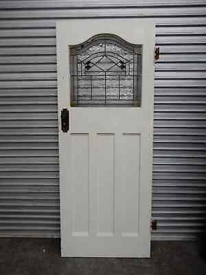 Door - Art Deco Original Leadlight Door 810w x 2040h , 1n