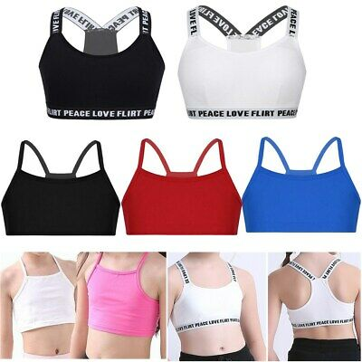 Children Girls Training Bra Dance Crop Top Ballet Gymnastics Sports Tops Undies