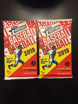 2019 Topps Heritage Baseball #d Chrome/Refractor/Black/Gold/1/1 (2) Hot Pack LOT
