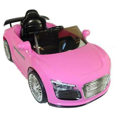 Kids Audi R8 Style Ride on Car Jeep 12v Electric Battery Child Toy Pink + Remote