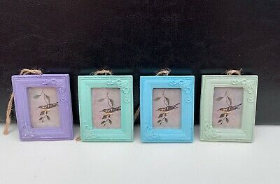 Sass & Belle Mini Hanging Photo Frame Pastel Vintage Rectangle Picture Gift