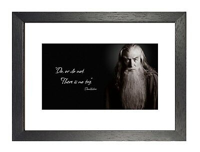 Dumbledore Poster Do Or Do Not Quote Motivation Photo Harry Potter Film Black