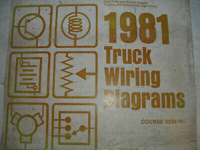 1981 ford econoline van electrical wiring diagrams service schematic manual  shop