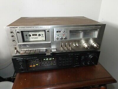 Vintage Hitachi D-850 Stereo Cassette Player Recorder Exc Cosmetic 4Parts/Repair