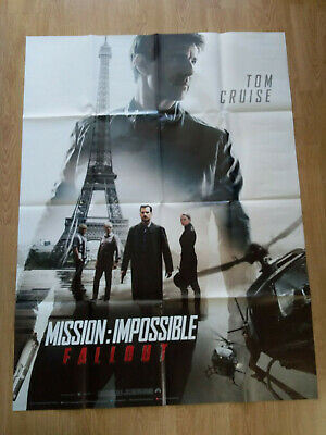 AFFICHE CINEMA MISSION IMPOSSIBLE 6 FALLOUT TOM CRUISE 160x120 CM PLIE OCCASION
