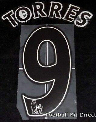Liverpool Torres 9 Name/Number Set Football Shirt Lextra 07-13 Away Sporting ID